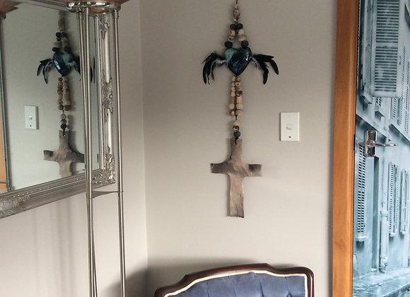 Raised spirits - mixed media wall piece