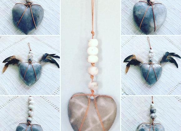 Smokey Heart - 5 Bead