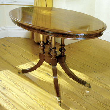 Walnut Tilt Top Table |  Hand French Polished