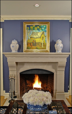 _Living Room Westchester, NY Fireplace__