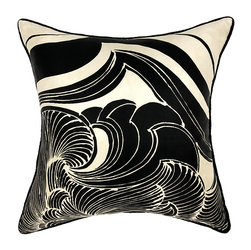"Deco Waves 24"" Pillow"