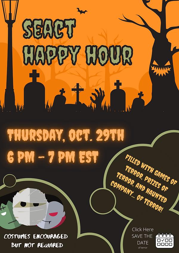 Orange Spooky Graveyard Halloween Poster