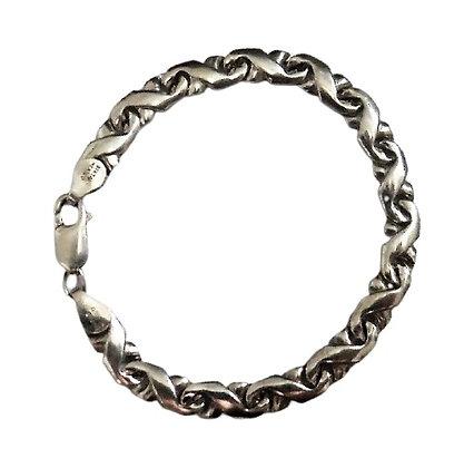 Sterling Silver Kiss Bracelet