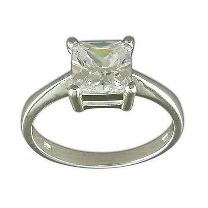 Assayed Princess Cut Ring