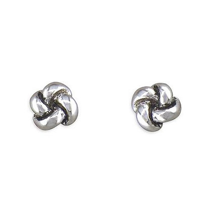 Sterling Micro Knot Studs