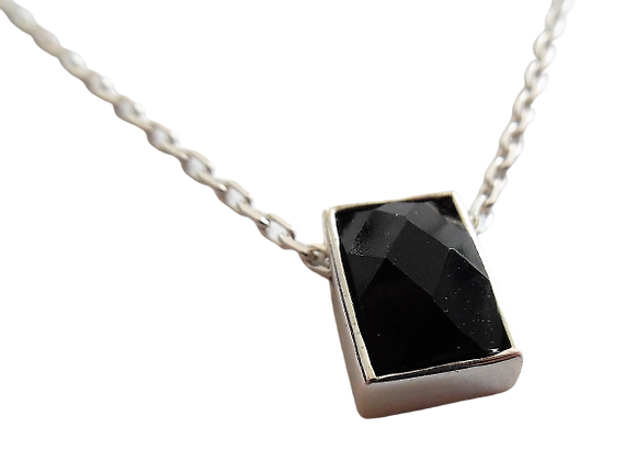 Sterling M&S Necklace Black Rectangular