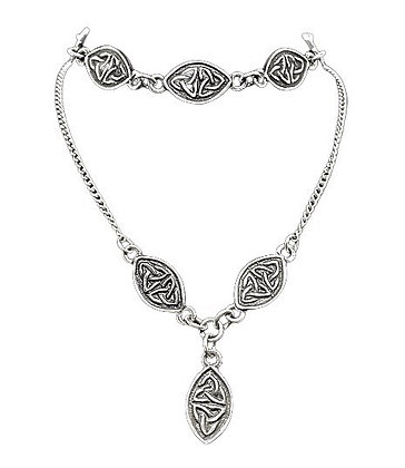 Sterling Silver Celtic Necklace Bracelet Set