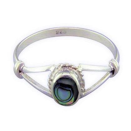 Assayed Paua Shell Ring Oval