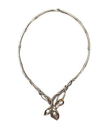 Vintage Assayed Silver Art Nouveau Necklace 1 Oz +