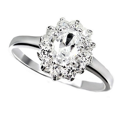 Assayed Silver Engagement Ring