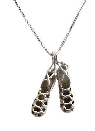 Assayed Ballet Shoes Necklace