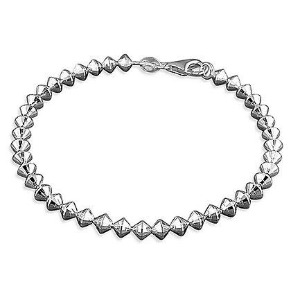 Assayed Silver Bracelet Plain Cones