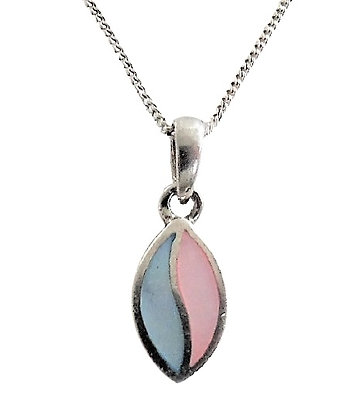 Sterling Blue and Pink Necklace