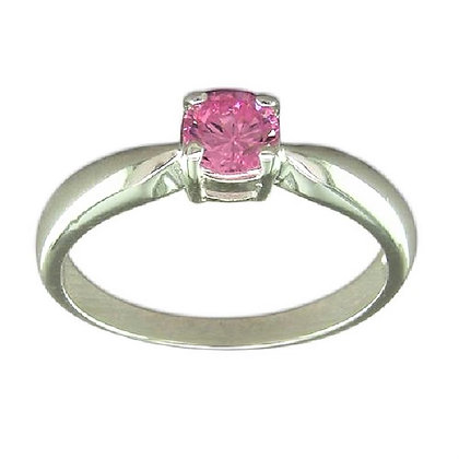 Assayed Silver Pink Ring
