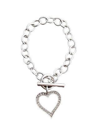 Vintage Sterling Heart Bracelet