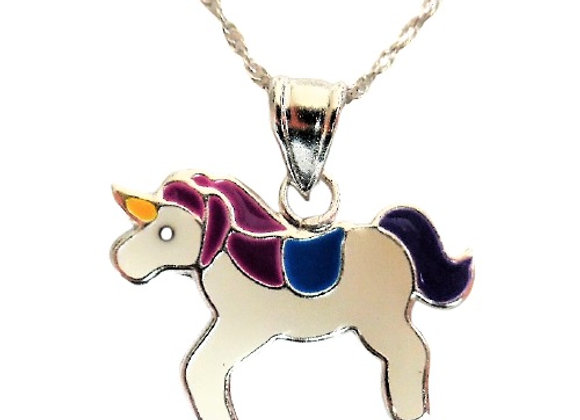 Ladies Sterling Unicorn Necklace