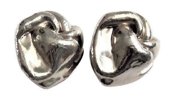 Vintage Chunky Sterling Earrings