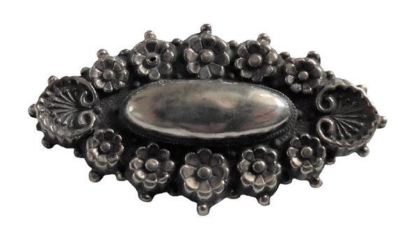Assayed Antique Silver Brooch 1855