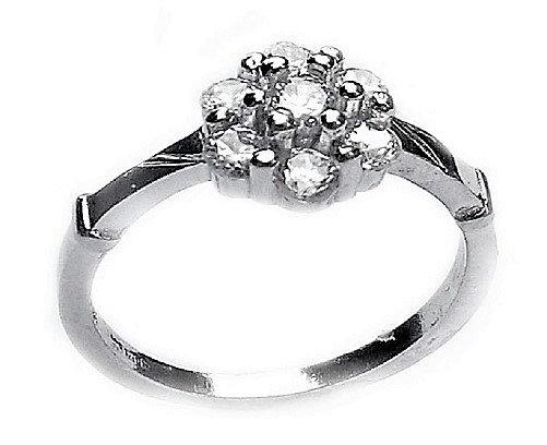 Assay Hallmarked Birmingham Ring Clear CZ