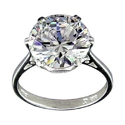 Assayed Silver Solitaire Ring