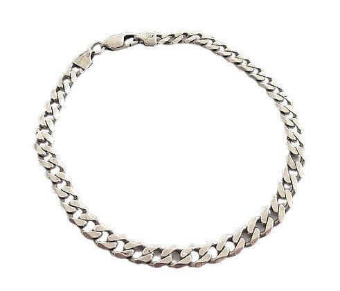 Assayed Ladies Sterling Silver Curb Bracelet