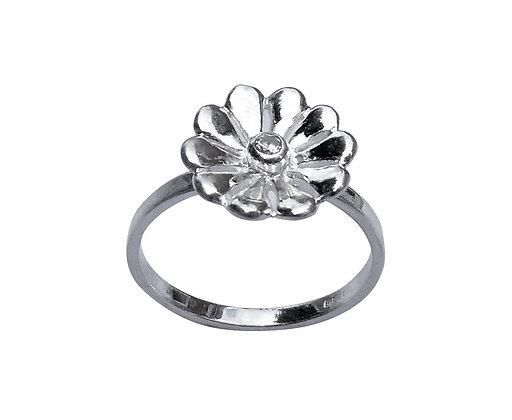 Assayed Silver Flower Ring