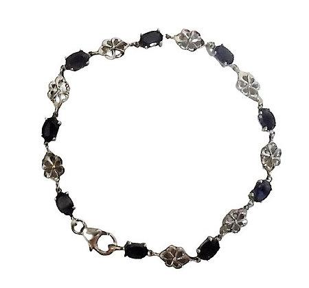 Sterling Silver Purple Bracelet
