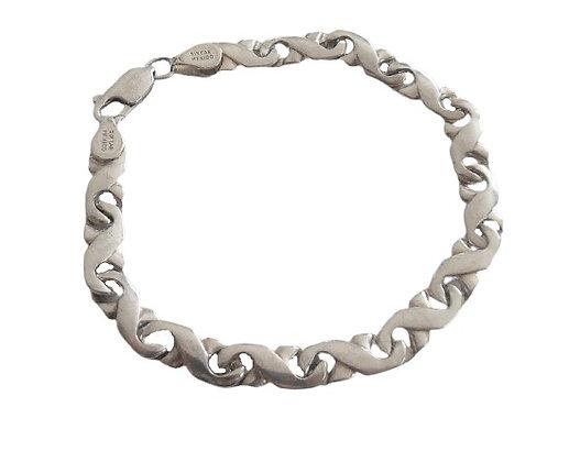 Sterling Silver Bracelet Kisses