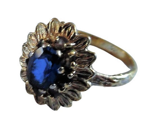 Vintage 9ct Gold Plated Sterling Ring