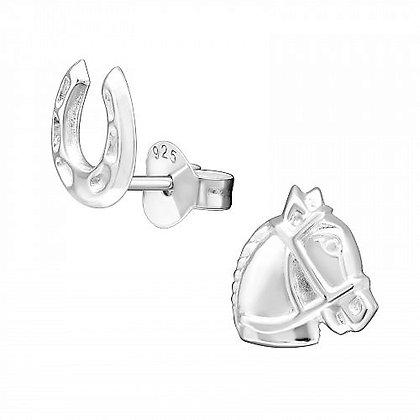 Childrens Sterling Horse Earrings