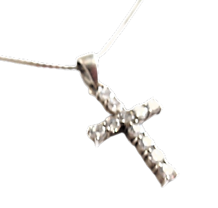 Sterling Gemstone Cross and Chain