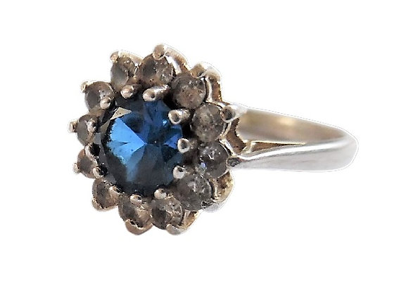 Sterling Silver Blue Ring