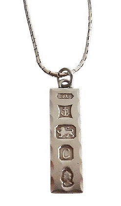 Assayed Vintage Ingot Necklace