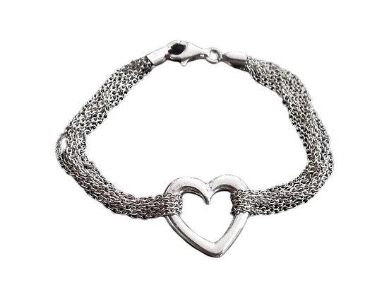Sterling Silver Heart Bracelet Chains