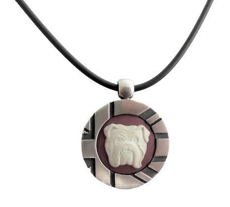 Stephen Webster Bulldog Red Jasperware Assayed Silver