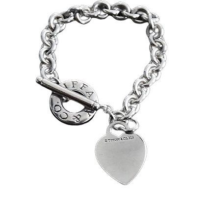 Tiffany Heart Toggle Bracelet 1 Oz +