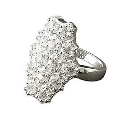 Assayed Silver Cocktail Ring