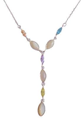 Sterling Gemstone Lariat Necklace
