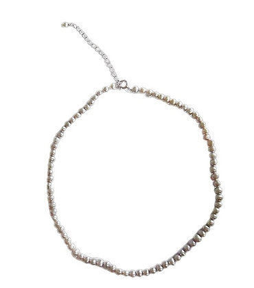 Girls Sterling Silver Pearl Necklace