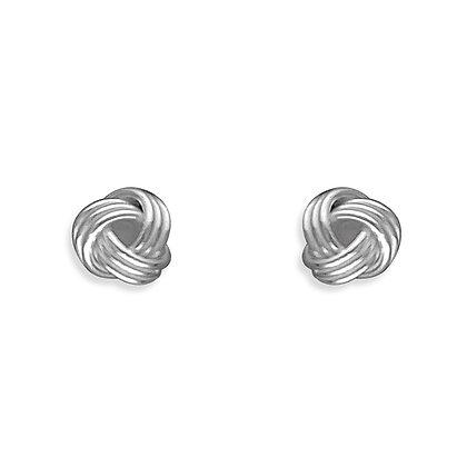 Sterling Silver Tiny Knot Studs