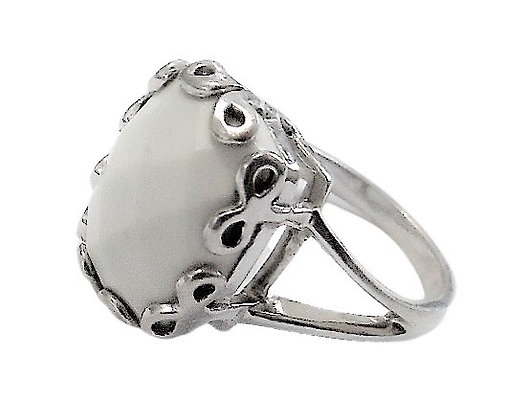 Sterling Silver White Ring