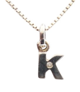 Sterling Initial K Necklace