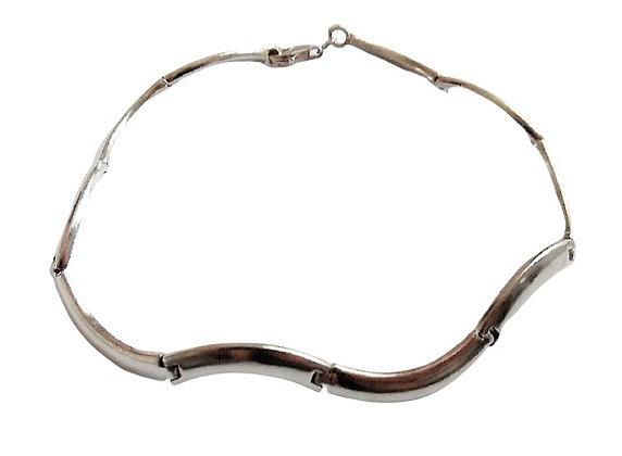 Hallmarked Silver Wave Bracelet