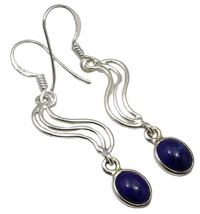 Lapis Lazuli Gemstone Earrings Royal Blue