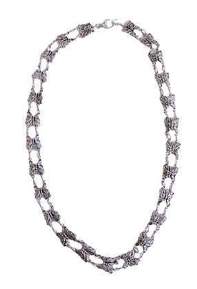 Assayed Silver Butterfly Necklace