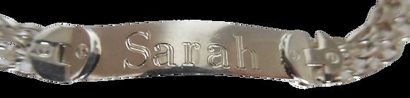 Silver Sarah ID Bracelet