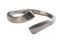 Mens Silver Diamond Ring