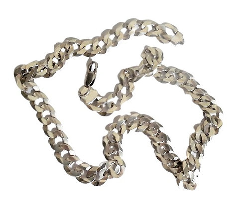 Heavy Silver Curb Chain Necklace