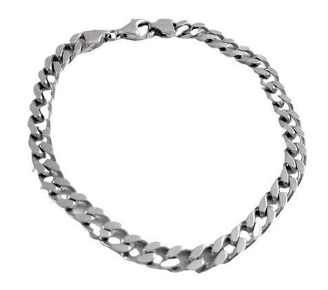 Hallmarked Silver Curb Bracelet