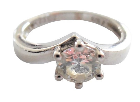 Secondhand Sterling Silver Solitaire Ring